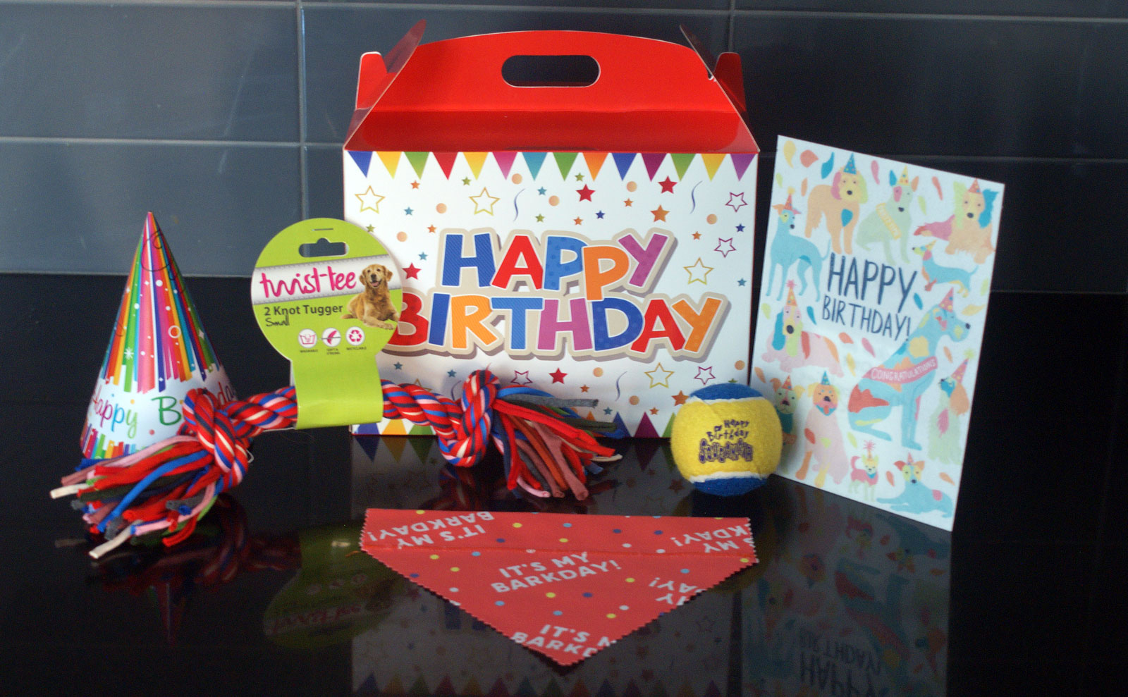 Birthday Treat Box for Small Dogs